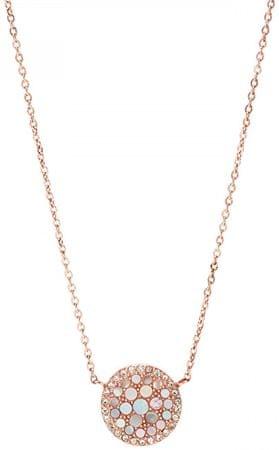 Fossil Bronzový náhrdelník s perletí JF01740791