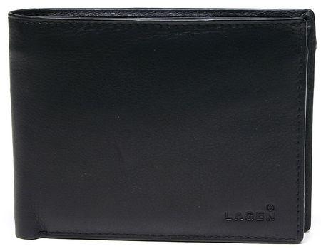Lagen Férfi bőr pénztárca fekete W 8053