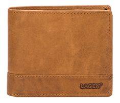 Lagen Férfi barna bőr pénztárca Brown V-76/V