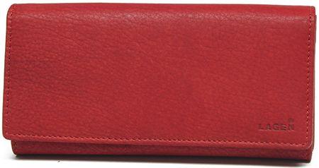 Lagen Kobieta czerwony skórzany portfel Red V-102 / W