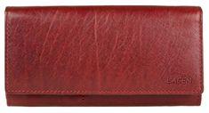 Lagen Kobieta czerwony skórzany portfel Red V-102 / T