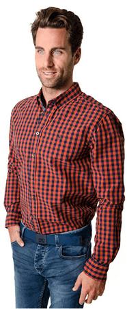 Heavy Tools Koszula męska Odpowiedz W16-411 Pumpkin (rozmiar L)