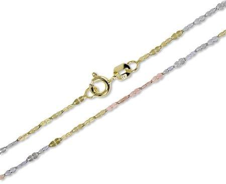 Brilio Ženska trikotna zapestnica 18 cm 261 115 00175 rumeno zlato 585/1000