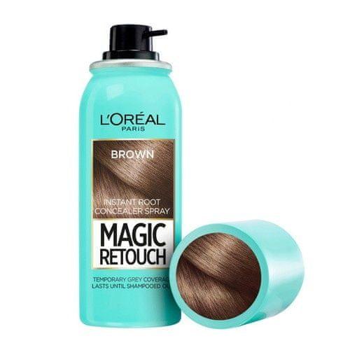 Loreal Paris Vlasový korektor šedín a odrastov Magic Retouch (Instant Root Concealer Spray) 75 ml (Odtieň 10 Brown)