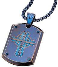 Police Modrý pánsky náhrdelník Prowler PJ25607PSEBL-C