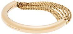 Michael Kors Pevný zlatý náramok s retiazkami MKJ5787710