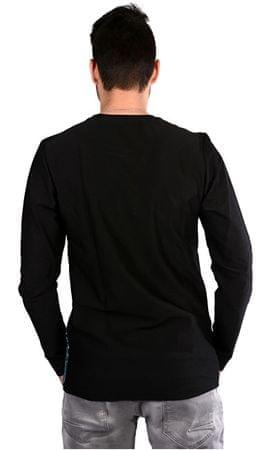 cb3338d65 Pánske čierne tričko s potlačou Asso Black 4507201 (Veľkosť M) ...