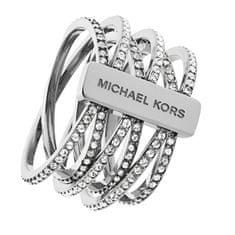 Michael Kors Dámský ocelový prsten s krystaly MKJ4423040