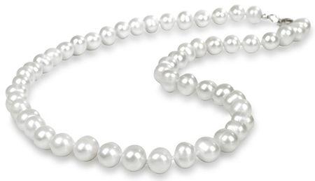 JwL Luxury Pearls Náhrdelník s pravými bílými perlami JL0264 stříbro 925/1000