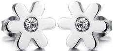 Troli Drobni cvetni uhani s kristalčkom