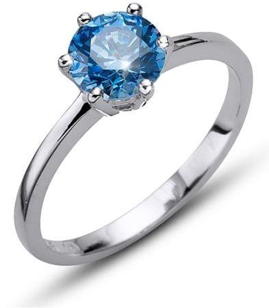 Oliver Weber Morning Brilliance Large ezüst gyűrű kék színű kristállyal 63218 BLU (áramkör XL (60 - 63 mm)) ezüst 925/1000