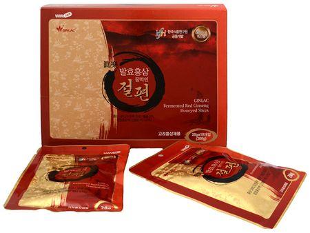 GINLAC Ženšenové plátky naložené v medu 10 x 20 g rodinné balení