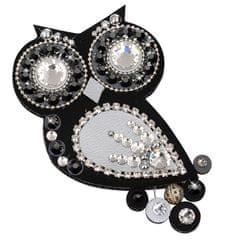 Sovičky Fekete-ezüst színű bagoly bross - közepes