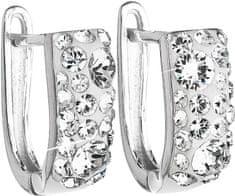 Evolution Group Stříbrné náušnice s krystaly Swarovski 31123.1 krystal stříbro 925/1000