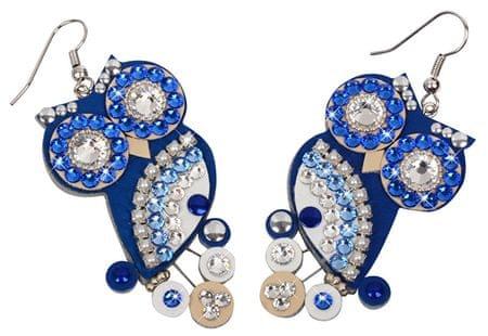 Sovičky Bagoly fülbevaló kék