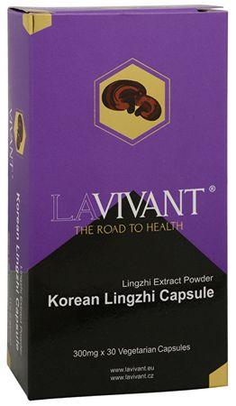 Lavivant Korean Lingzhi (Ganoderma, reishi) 30 kapslí