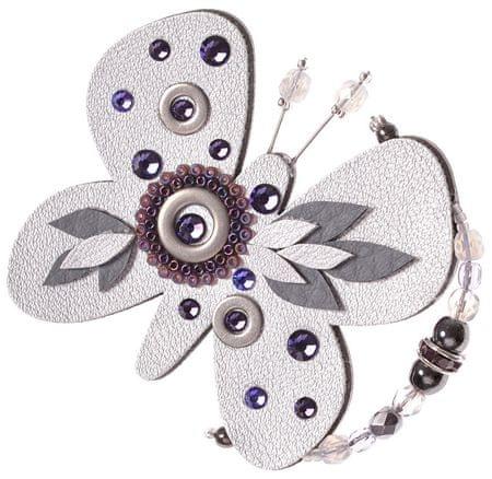 Petra Švarcová Ezüst pillangó bross