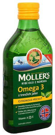 Möller´s rybí olej Omega 3 z tresčej pečene s citrónovou príchuťou 250 ml