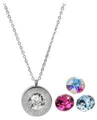 Levien Jeklena ogrlica 4-v-1 z zamenljivimi kristali C-FU-AQ-AB
