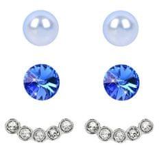 Levien Ear Cuff Kolczyki Zestaw 4 w 1 lekki Sapphire niebieski