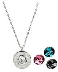 Levien Oceľový náhrdelník 4 v 1 s výmennými kryštálmi C-LR-BZ-SN