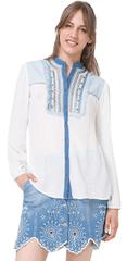 Desigual Dámska košeľa Cam Jeans 12 74C2JB4 1015
