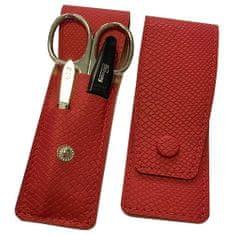 DuKaS Cestovná manikúrová súprava 3 dielna červená PL894