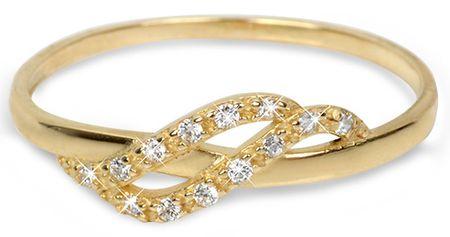 f392175db Brilio Zlatý prsteň s kryštálmi 229 001 00698 - 1,10 g (Obvod 56 mm ...