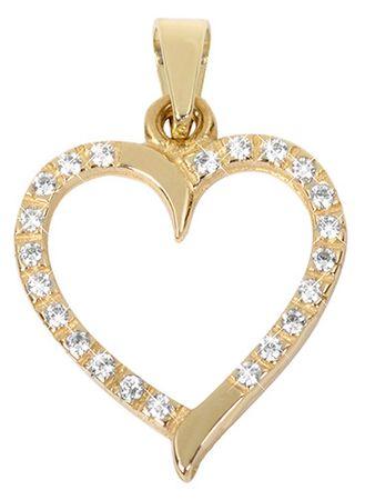 4ac0443ca Brilio Zlatý prívesok Srdce s čírymi kryštálmi 249 001 00462 - 0,90 g žlté