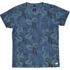 Cars-Jeans Panie niebieski T-shirt z drukowanie Baro Navy 4278212