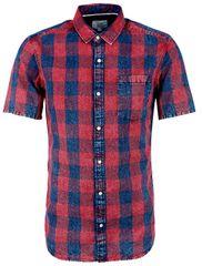 Q/S designed by Pánska kockovaná košeľa extra slim fit 1/2