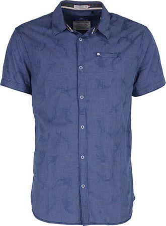 6638ee442da2 Noize Pánska košeľa s krátkym rukávom Royal 4448210-00 (Veľkosť M ...