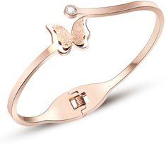 Troli Bronzový motýlie náramok Metal Butterfly KBS-154-RG