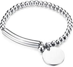 Troli bransoleta ze stali stylowy KBS-451-SIL