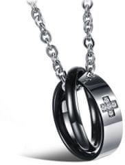 Troli Originálne partnerský náhrdelník pre pánov KNSC-064-BL