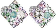 Evolution Group Delikatne kolczyki z kryształami kwadratowych Sakura 31169.3 srebro 925/1000