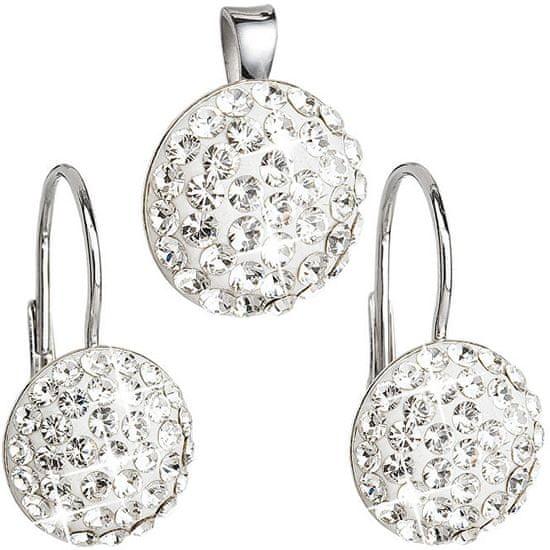 Evolution Group Sada šperkov s kryštálmi Swarovski 39086.1 (náušnice, prívesok) striebro 925/1000