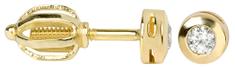 Brilio Zlaté náušnice s krystaly 236 001 00634 zlato žluté 585/1000