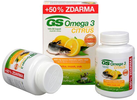 GreenSwan GS Omega 3 Citrus 100 kapsúl + 50 kapsúl ZDARMA