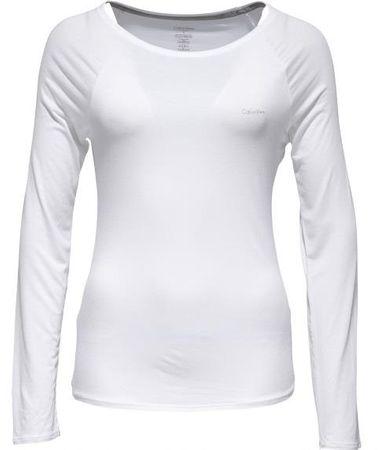 Calvin Klein Damskie Koszulka z długim rękawem L/S Top QS5493E-100 biała (Rozmiar L)
