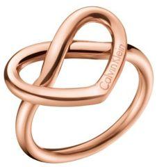 Calvin Klein Bronast prstan v obliki srca Charming KJ6BPR1001