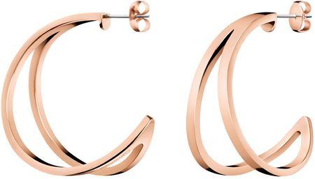 Calvin Klein Luksuzni bronasti uhani Outline KJ6VPE100200