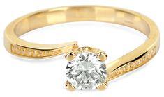 Brilio Zlatý zásnubný prsteň s kryštálom 226 001 01023 - 2,10 g žlté zlato 585/1000