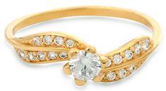 Brilio Zlatý prsteň s kryštálmi 229 001 00509 - 1,45 g žlté zlato 585/1000
