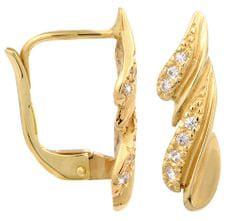 Brilio Zlaté náušnice s kryštálmi 239 001 00748 - 2,20 g žlté zlato 585/1000