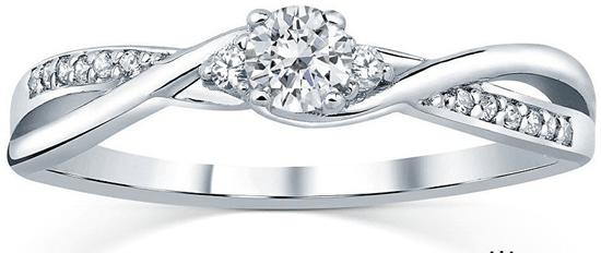Silvego Strieborný prsteň s kryštálmi Swarovski FNJR085sw (Obvod 49 mm) striebro 925/1000