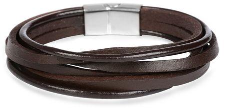 c5f0b7b22 Troli Hnedý kožený náramok Leather   MALL.SK