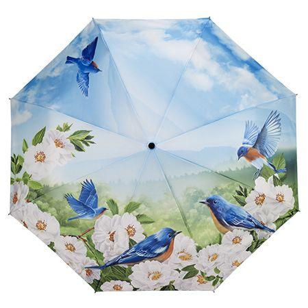 Blooming Brollies Női összecsukható automata esernyő Blue Birds GBFBBN