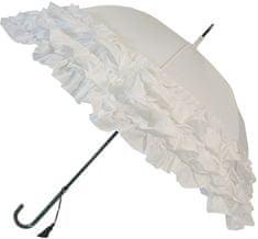 Blooming Brollies Dámsky palicový vystreľovací dáždnik White Triple Frill BCS3FWH