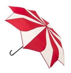 Blooming Brollies Damski składany parasol Czerwony i śmietany Swirl EDFSWRC